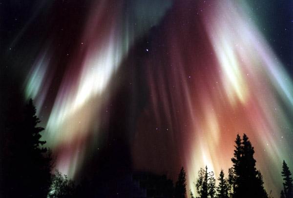 aurore boréale sur terre